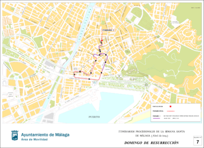 Itinerario Domingo de Resurrección Semana Santa de Málaga