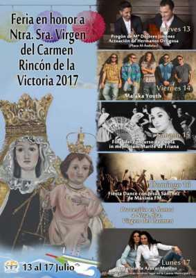 Cartel de la Feria Rincón de la Victoria 2017 Virgen del Carmen