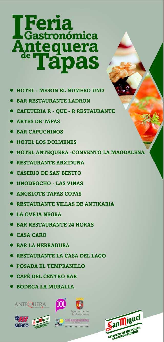 Participantes I Feria Gastronomica Antequera de Tapas