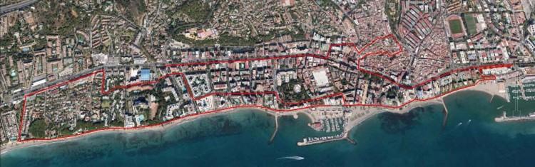 Recorrido Carrera Kilómetros Solidarios Marbella 2014
