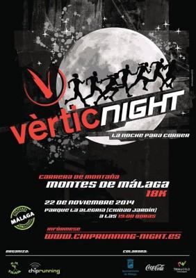 Cartel Vértic Night Málaga 2014
