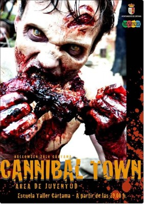 Cartel del Cannival Town en Halloween 2014 Cártama