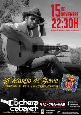 Cartel del concierto del Canijo de Jerez en la Cochera Cabaret 2014