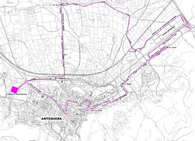 Recorrido de la Media Maratón Ciudad de Antequera 2014