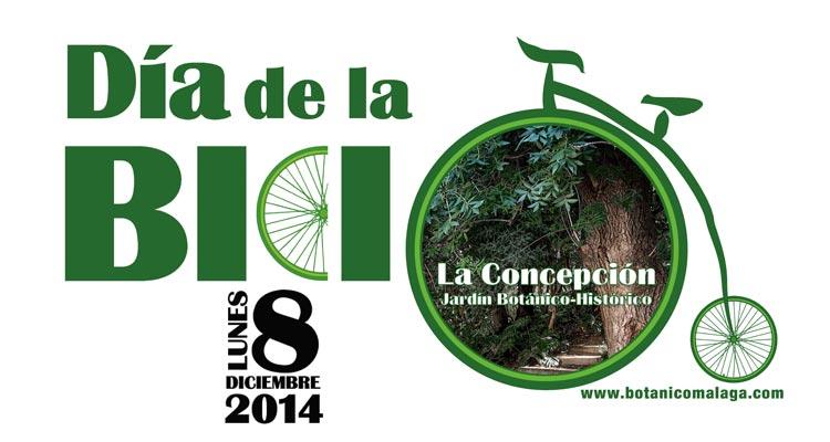 Cartel del Día de la Bici 2014 Jardín Botánico La Concepción