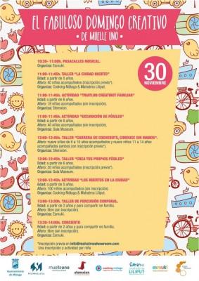 Cartel del Fabuloso Domingo Creativo de Muelle Uno 2014