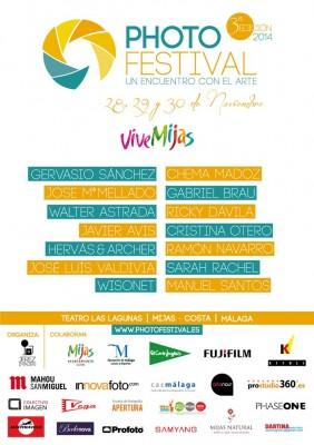 Cartel del PhotoFestival 2014 - Festival de fotografía en Mijas Costa