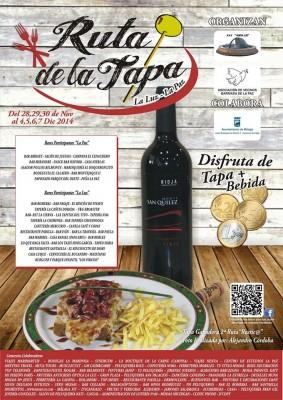 Cartel de la III Ruta de la Tapa La Luz-La Paz 2014