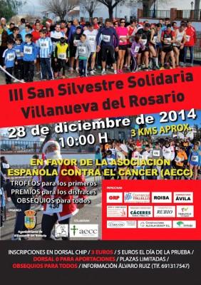 Cartel de la San Silvestre Solidaria Villanueva del Rosario 2014
