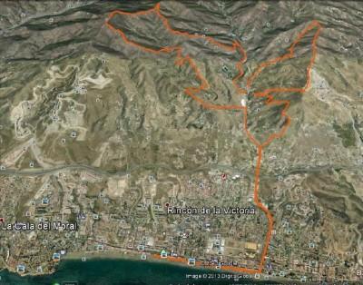 Recorrido Trail La Capitana 2015 Rincón de la Victoria