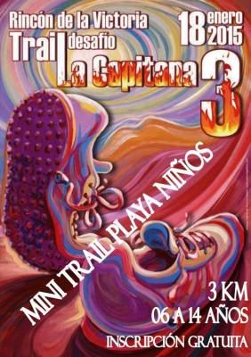Cartel Mini Trail La Capitana 2015 Rincón de la Victoria