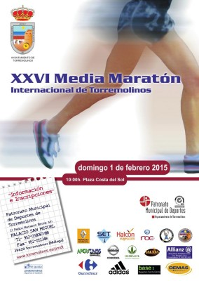 Cartel Media Maratón Torremolinos 2015