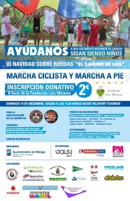 Cartel Navidad Sobre Ruedas 2014 Teatinos Universidad Málaga