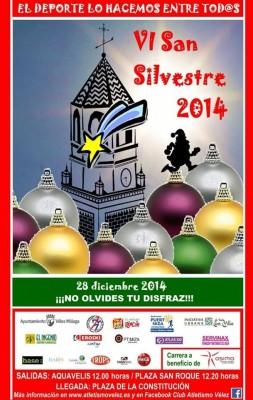 Cartel VI San Silvestre Torre del Mar Vélez-Málaga 2014