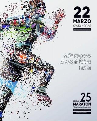 Cartel Media Maratón Málaga 2015