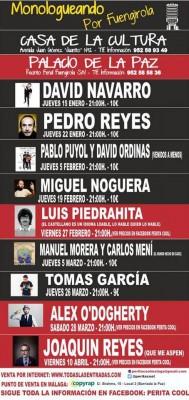 Cartel de Monologueando por Fuengirola