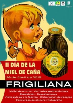 Cartel Día de la Miel de Caña Frigiliana 2015