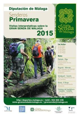 Cartel Gran Senda de Málaga Primavera 2015