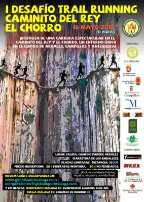 Cartel Trail Running Caminito del Rey - El Chorro 2015