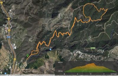 Recorrido corto Trail Running Ciudad de Málaga 2015