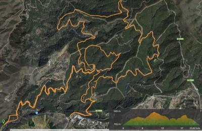 Recorrido largo Trail Running Ciudad de Málaga 2015
