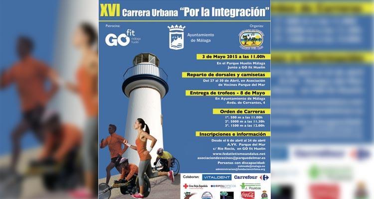 Carrera Urbana por la Integración 2015. Huelin