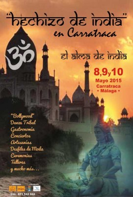 Cartel Hechizo de India Carratraca 2015