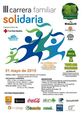 Cartel Carrera Familiar Solidaria Fuengirola 2015