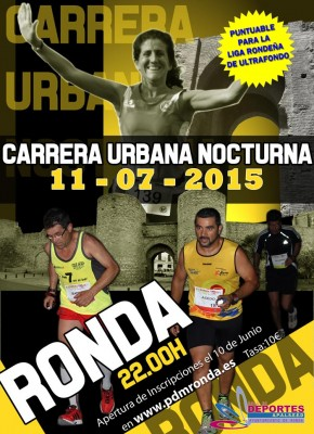 Cartel Carrera urbana Nocturna Ronda 2015
