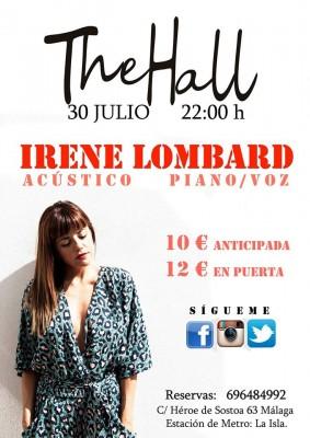 Cartel de concierto de Irene Lombard Málaga 2015