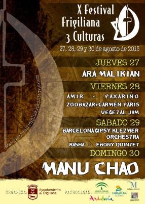 Cartel del Festival Frigiliana 3 Culturas 2015