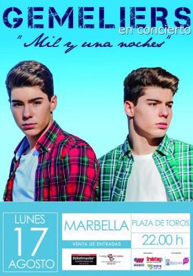 Cartel Gemeliers Concierto Marbella 2015