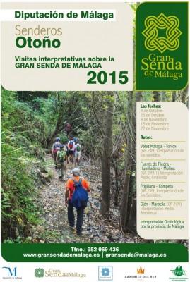 Cartel Gran Senda Málaga. Senderos de Otoo 2015