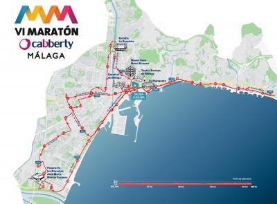 Recorrido Maratón Málaga 2015 Cabberty