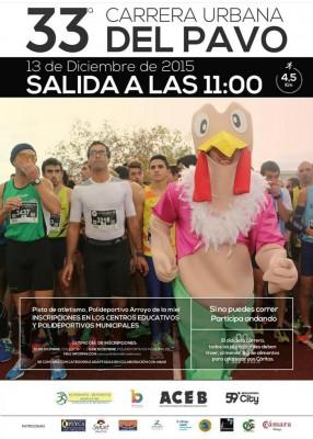 Cartel Carrera del Pavo Benalmádena 2015