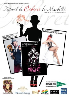 Cartel del Festival Cabaret Marbella 2015
