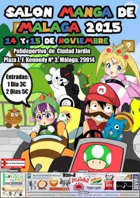 Cartel del I Salón Manga de Málaga 2015