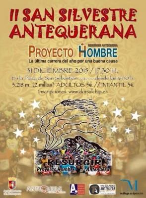 Cartel San Silvestre Antequera 2015 Proyecto Hombre
