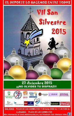 Cartel de la San Silvestre Vélez Málaga 2015