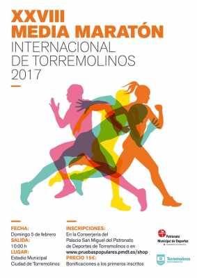 Cartel de la Media Maratón de Torremolinos 2017