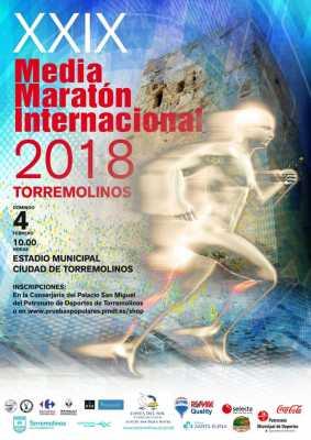 Cartel de la Media Maratón de Torremolinos 2018