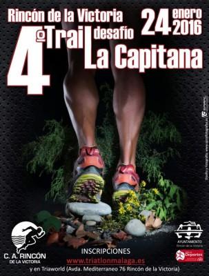 Cartel Trail La Capitana 2016 Rincón de la Victoria