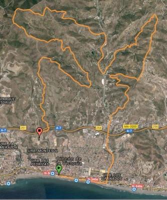 Recorrido Trail La Capitana 2016 Rincón de la Victoria