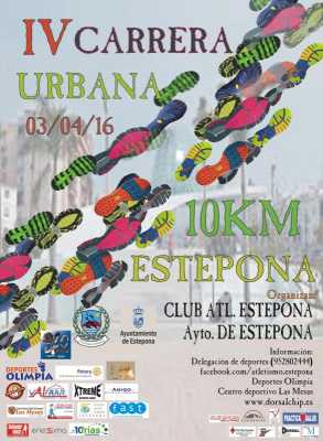 Cartel Carrera Urbana 10km Estepona