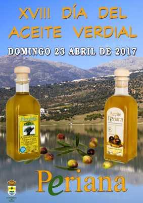 Cartel del Día del Aceite Verdial de Periana 2017