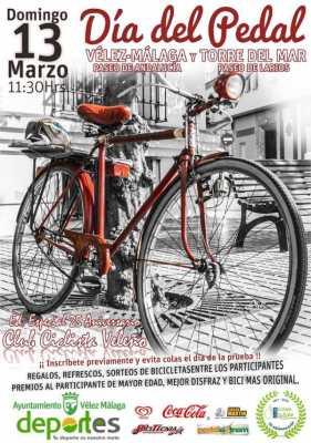 Cartel Día del Pedal Vélez-Málaga Torre del Mar 2016