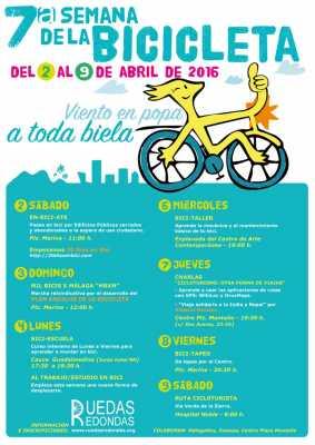 Cartel Semana de la Bicicleta Málaga 2016