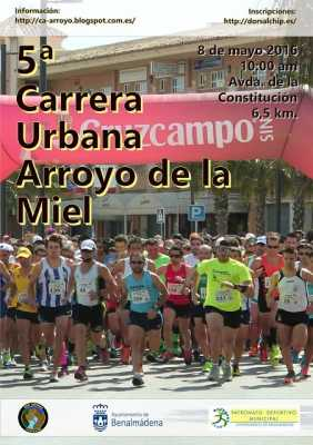 Cartel de la Carrera Urbana Arroyo de la Miel 2016