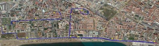 Recorrido de la Carrera Urbana El Torcal La Paz 2017