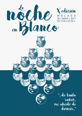 Cartel de la Noche en Blanco Málaga 2017